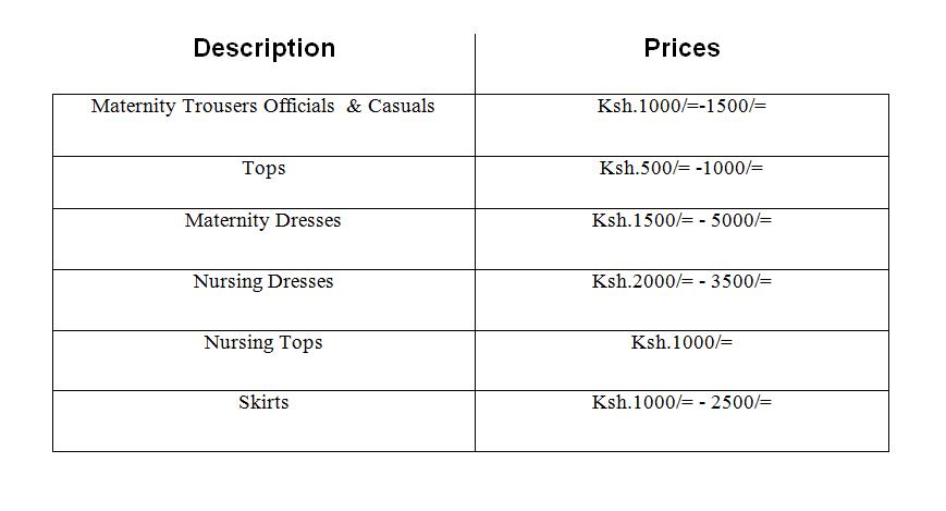 Maternity price in NAirobi