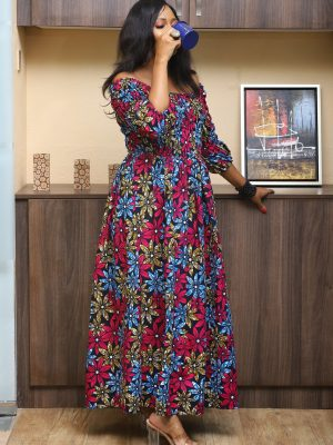 Multi colored African Dress