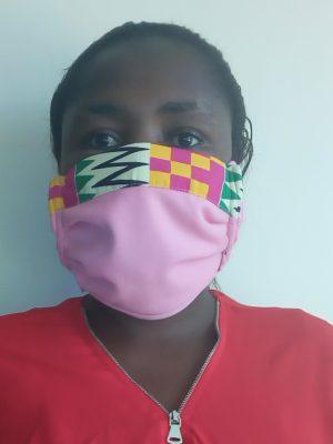 3 ply Kente Masks